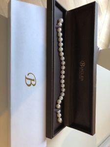 【送料無料】ブレスレット アクセサリ― ホワイトゴールドブレスレット14ct white gold clasp on freshwater pearl 8 bracelet