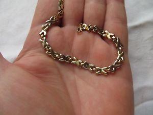 【送料無料】ブレスレット アクセサリ― プリホワイトイエローゴールドブレスレット listingfab preowned 9ct white amp; yellow gold kisses  775 bracelet  51g