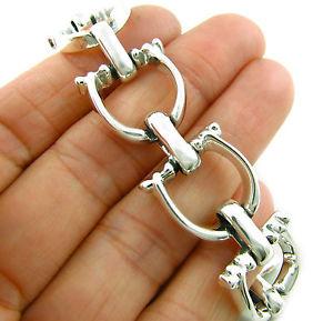 【送料無料】ブレスレット アクセサリ― スターリングシルバーブレスレットボックスlarge stirrup 925 sterling silver horse equestrian bracelet gift boxed