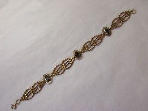 【送料無料】ブレスレット アクセサリ― ヴィンテージゴールドゲートブレスレットガーネットインチvintage 9k 9ct375 gold gate bracelet set with garnets approx 6 12 inches