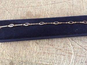 【送料無料】ブレスレット アクセサリ― イエローゴールドアイオライトブレスレットg9ct yellow gold iolite bracelet 10 g