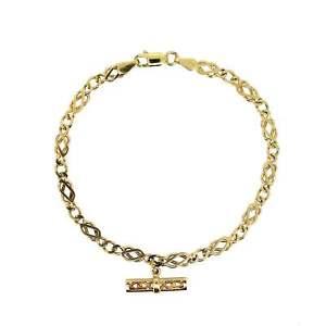 【送料無料】ブレスレット アクセサリ― イエローゴールドケルトノットバーリンクブレスレットhallmarked 9ct yellow gold celtic knot t bar 7 linked bracelet 474g