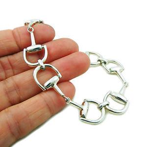 【送料無料】ブレスレット アクセサリ― スターリングシルバーデザイナービットブレスレットボックスsterling 925 silver designer horse bit snaffle bracelet gift boxed