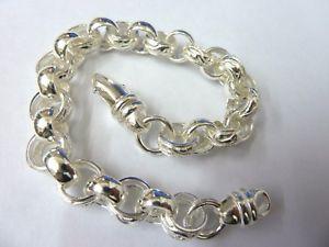 【送料無料】ブレスレット アクセサリ― スターリングシルバープレーンベルチャーブレスレットグラムsterling silver 925 plain amp; patterned 8 12 belcher bracelet 31 grams 88mm