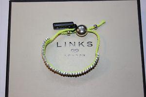 【送料無料】ブレスレット アクセサリ― ロンドンスターリングシルバーイエローブレスレットリンクgenuine links of london sterling silver fluorescence yellow friendship bracelet