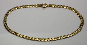 【送料無料】ブレスレット アクセサリ― イエローゴールドリンクブレスレット9ct yellow gold curb link bracelet 8 3mm