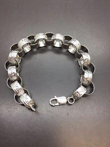 【送料無料】ブレスレット アクセサリ― ソリッドシルバーベルチャーパターンブレスレット listing925 solid silver belcher plain amp; pattern bracelet 9