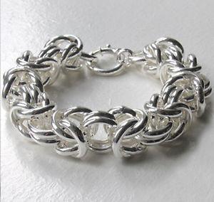 【送料無料】ブレスレット アクセサリ― イタリアインチスターリングシルバービザンチンブレスレットitalian 8inch chunky sterling silver byzantine bracelet, 15mm wide