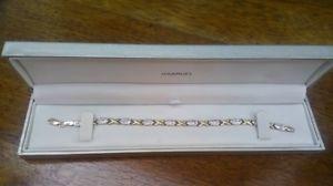 【送料無料】ブレスレット アクセサリ― サミュエルktイエローホワイトゴールドブレスレットグラムh m samuel, 9kt yellow and white gold bracelet, 185mm length and 3gr