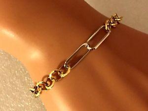 【送料無料】ブレスレット アクセサリ― ファンシーイエローホワイトゴールドレディースブレスレットフル8 very pretty fancy 9ct yellow amp; white gold ladies bracelet full uk hallmark