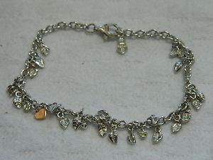 【送料無料】ブレスレット アクセサリ― シルバーウェールズゴールドペリドットブレスレットローズゴールドハート¥clogau silver amp; welsh gold awelon peridot bracelet with rose gold heart rrp 209