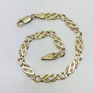 【送料無料】ブレスレット アクセサリ― レディースショートイエローゴールドケルトインチ¥ladies short 9ct yellow gold celtic bracelet 6 78 long value 200 comes boxed