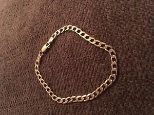 【送料無料】ブレスレット アクセサリ― ブレスレット listing9ct gold curb bracelet