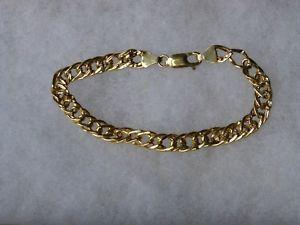 【送料無料】ブレスレット アクセサリ― イエローゴールドレディースダブルリンクブレスレットインチpretty 9ct yellow gold ladies double link curb bracelet 7 inch19cm