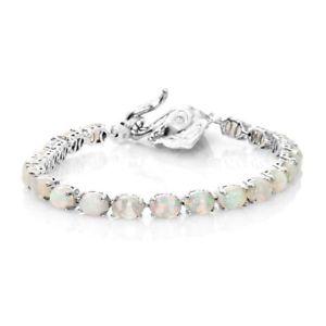 【送料無料】ブレスレット アクセサリ― エチオピアオパールプラチナザンビアエメラルドテニスブレスレットethiopian opal, zambian emerald tennis bracelet in platinum plated silver 75 in