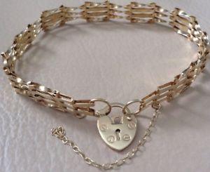 【送料無料】ブレスレット アクセサリ― ゴールドゲートブレスレット9ct gold gate bracelet