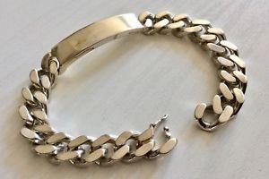 【送料無料】ブレスレット アクセサリ― ソリッドシルバーアイデンティティブレスレットビンテージgood gents very heavy solid silver identity bracelet vintage fully hallmarked