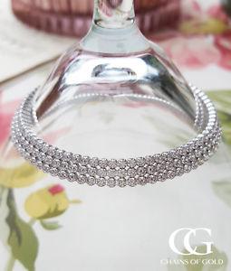 【送料無料】ブレスレット アクセサリ― レディーストリプルテニスブレスレットladies fine sterling silver sparkling triple row tennis bracelet 75