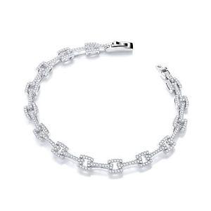 【送料無料】ブレスレット アクセサリ― スクエアリンクブレスレットmicro pav cz square link 719cm bracelet