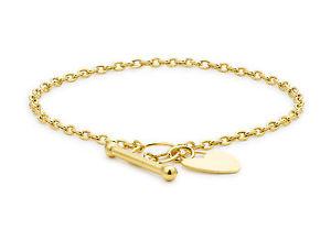 【送料無料】ブレスレット アクセサリ― イエローゴールドハートバーブレスレットボックス9ct yellow gold heart t bar bracelet 18cm7 inc luxury gift box