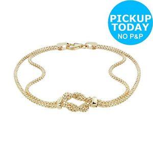 【送料無料】ブレスレット アクセサリ― ゴールドノットブレスレットrevere 9ct gold knot bracelet