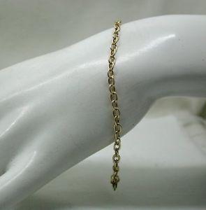 【送料無料】ブレスレット アクセサリ― ゴールドプレーンチェーンリンクブレスレットvery nice 9ct gold plain chain link bracelet