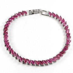 【送料無料】ブレスレット アクセサリ― スターリングシルバーピンクルビーブレスレットインチsterling silver 925 genuine natural pink ruby gem bracelet 75 inches