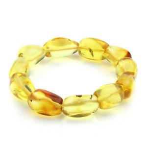 【送料無料】ブレスレット アクセサリ― バルトブレスレットオリーブビーズグラムgenuine baltic amber bracelet large olive beads 14mm 19gr jnr27