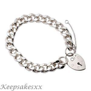 【送料無料】ブレスレット アクセサリ― スターリングシルバーメンズチェーンブレスレットデザインsterling silver mens 8 chain bracelet flat curb design made in uk hallmarked