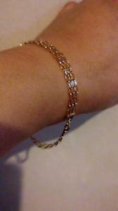 【送料無料】ブレスレット アクセサリ― イエローゴールドメッシュデザインブレスレットbeautiful 9ct 375 yellow gold mesh design bracelet 712 excellent condition***