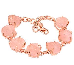 【送料無料】ブレスレット アクセサリ― ピンクエメラルドミクロンローズゴールドメッキシルバーブレスレット21g pink emerald rough morganite 2 micron rose gold plating 925 silver bracelet