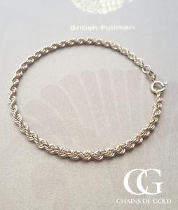 【送料無料】ブレスレット アクセサリ― イエローゴールドレディースロープブレスレットfine 9ct yellow gold ladies 7 rope bracelet