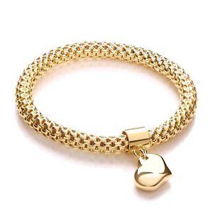 【送料無料】ブレスレット アクセサリ― ハートペンダントファンシーブレスレットメッシュyellow mesh with heart pendant fancy bracelet