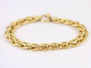 【送料無料】ブレスレット アクセサリ― チェーンブレスレットゴールドレディースwoven chain bracelet 9ct gold ladies stunning 375 63g sh55