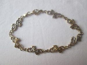 【送料無料】ブレスレット アクセサリ― レディースイエローホワイトゴールドブレスレットladies 9ct yellow amp; white gold bracelet