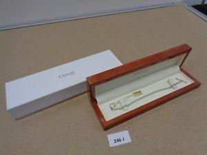 【送料無料】ブレスレット アクセサリ― ゴールドスターリングシルバーブレスレットgenuine clogau gold sterling silver charm bracelet of 205cm