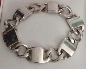 【送料無料】ブレスレット アクセサリ― ソリッドスターリングシルバービンテージブレスレットグラムsolid sterling silver vintage chunky braceletover 80 grams