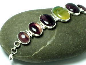 【送料無料】ブレスレット アクセサリ― スターリングシルバーブレスレットfluorite  sterling silver 925 gemstone bracelet  gift boxed