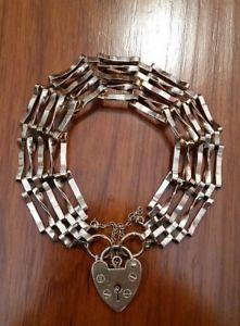 【送料無料】ブレスレット アクセサリ― バーゲートブレスレットグラム9ct 5 bar gate bracelet 124gram fully hallmarked