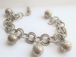 【送料無料】ブレスレット アクセサリ― スターリングシルバーボールリンクブレスレットグラムstunning sterling silver ball link adjustable bracelet 43 grams