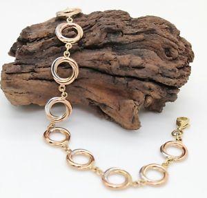 【送料無料】ブレスレット アクセサリ― ローズホワイトゴールドサークルブレスレットインチ9ct rose amp; white gold circles bracelet, endless, love, 9k, 65 inch, hallmarked