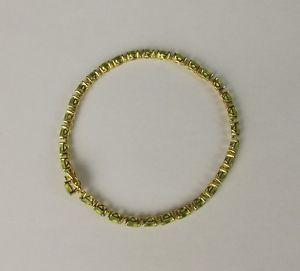 【送料無料】ブレスレット アクセサリ― シルバーペリドットテニスブレスレットsilver amp; gold vermeil 15ctw peridot tennis bracelet