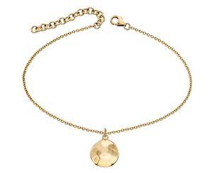 【送料無料】ブレスレット アクセサリ― デザイナイエローゴールドディスクブレスレットdesigner elements 9ct yellow gold hammered disc bracelet