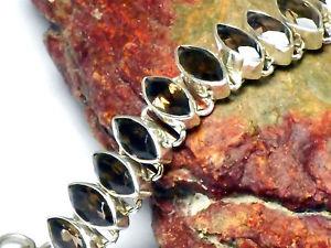 【送料無料】ブレスレット アクセサリ― スモーキークオーツスターリングシルバーブレスレットボックスsmoky quartz sterling silver 925 gemstone bracelet   gift boxed