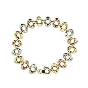 【送料無料】ブレスレット アクセサリ― レディースイエローゴールドピンクゴールドホワイトゴールドサークルブレスレットladies hallmarked 9ct yellow goldrose goldwhite gold circle 75 bracelet