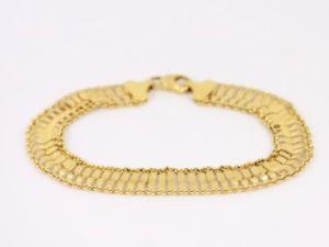 【送料無料】ブレスレット アクセサリ― ゲートブレスレットゴールドレディースイタリアgate bracelet 9ct gold ladies stunning 375 italian 64g sh48