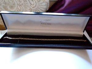 【送料無料】ブレスレット アクセサリ― ブレスレットbracelet hallmarked 9ct  solid gold outstanding