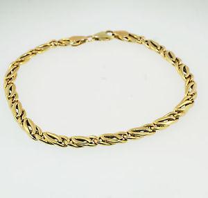 【送料無料】ブレスレット アクセサリ― イエローゴールドダブルfancy 14ct yellow gold 8 double curb braclet 5mm width