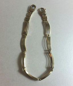 ブレスレット アクセサリ— ヴィンテージイエローゴールドバーゲートデザインブレスレットvintage 9ct yellow gold 4 bar gate design bracelet