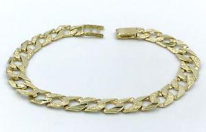 【送料無料】ブレスレット アクセサリ― ゴールドソリッドリンクブレスレットデザインgents 9 ct gold solid link bracelet, engraved design, british hallmarked,
